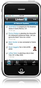LinkedIn iPhone applicatie