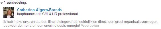 LinkedIn aanbeveling