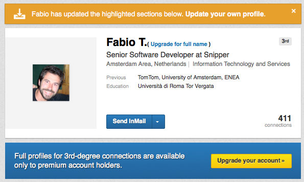 LinkedIn Updated Profile 3rd degree