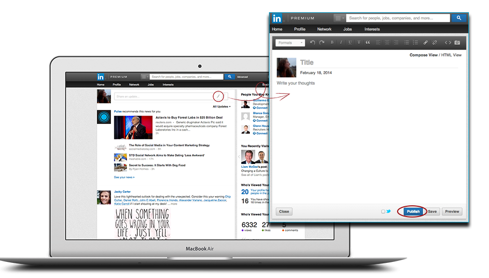 LinkedIn publicatieplatform Pulse