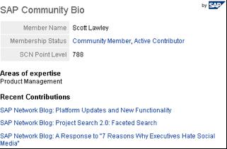 LinkedIn SAP Community bio