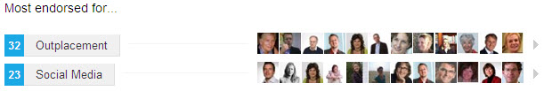 LinkedIn endorsements 2012