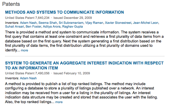 LinkedIn preview-patents