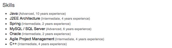 LinkedIn preview-skills