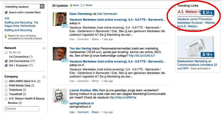 LinkedIn Signal - vacatures zoeken