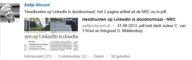 LinkedIn Status Update