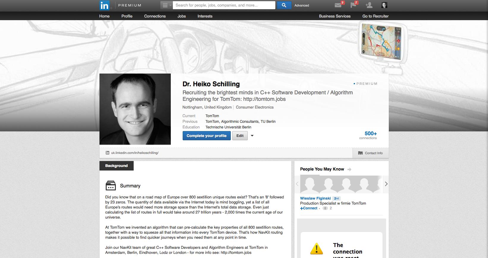 LinkedIn Profile Heiko Schilling